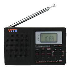 Banda mondo ricevitore radio digitale portatile FM/SW/MW/LW Radio Sveglia