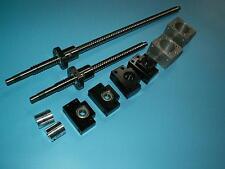ball screw RM2005-1200/1350mm+2set BK/BF12 bearing+nut housing+SBR20 linear rail