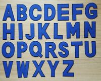 3 Inch Blue Alphabet A-Z Letters Appliques Iron on Patches for T-Shirt Jeans DIY