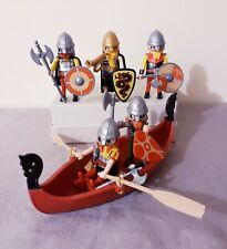 Playmobil vikings bundle with boat, accessories, castle figures,warriors playset
