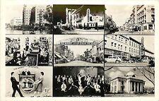 c1940 RPPC Postcard Reno NV 9 Views Dog House Club, Divorce Court, Gambling etc.