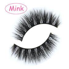 NEW MY014 1 Pair 100% Mink Hair False eyelashes Messy Cross Thick EYE LASHES