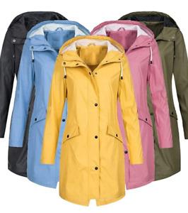 Ladies Long Raincoat - Outdoor Windproof Jacket - Trendy Women Hiking Walking