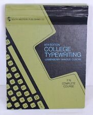 College Typewriting 8th Ed Lessenberry Wanous Duncan T76 Complete Course 1969