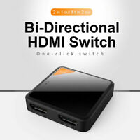 4K HD HDMI Bidirektionaler Switch Splitter 2 In 1 Out / 1 In 2 Out Adapter XY