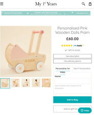 More details for my 1st years dolls pram new wooden free fast postage