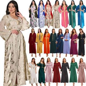 New Kaftan Abaya Dubai Women Long Dress Muslim Party Gown Islamic Jilbab Ramadan