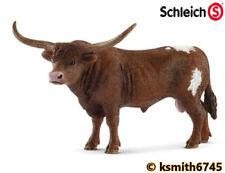Schleich Texas Longhorn toro de plástico sólido Juguete Animal De Granja Mascota Vaca * Nuevo * 💥