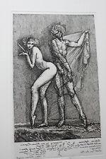 Ernst FUCHS, orig. Radierung 1978, handsigniert, Spiegelschrift,schöner Zustand,