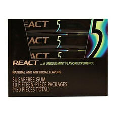 Wrigleys 5 Gum React Mint 15 Stick Each ( 10 In A Pack )