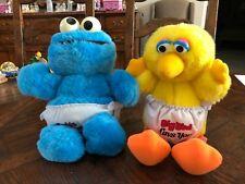 Vintage Sesame Street Plush - Cookie Monster & Big Bird