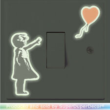 Banksy Style Girl With Balloon Light Switch Sticker decal kids lightswitch wall