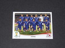 242 TEAM EQUIPE JAPAN JAPON NIPPON PANINI FOOTBALL FIFA WORLD CUP 2014 BRASIL