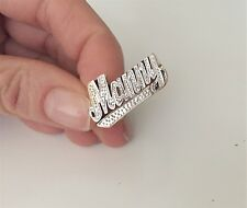 """14k Two-Tone Gold Personalized Name Ring """"Manny"""""""
