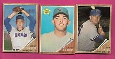 1962 TOPPS CHICAGO CUBS   EX-MT CARD LOT  (INV# C1434)