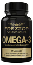 FREZZOR | Natural Omega-3 | Greenlip Mussel Oil | 60 soft gel capsules