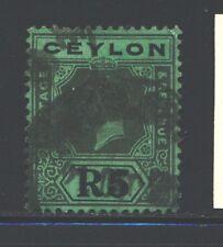 CEYLON 243 SG356 Used 1924 5r blk/emer KGV Wmk Mult Script CA Die II Cat$85