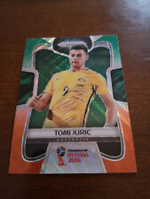 2018 Panini Prizm World Cup Tomi Juric #271 Green and Orange Wave Australia