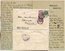 GB 1901 in Danimarca lettera personale per Anna Lundberg... Woodleigh MANSFIELD