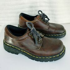 Doc Martens Oxford Shoes Mens Size 6 #9369 Brown Leather Lace-up Shoe Solid