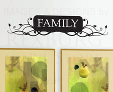 Wall Decal Sticker Quote Vinyl Art Lettering Decorative Removable Family F06