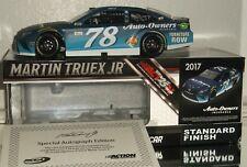 2017 Martin Truex Jr #78 Auto Owners Ins Autographed 1/24 Car#43/160 W/Coa