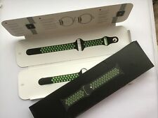Genuine Apple Watch NIKE Sport Band Strap BLACK / LIME BLAST 40mm /38mm