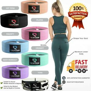Fabric Resistance Bands Heavy Duty Glute Leg Booty Bands Set Hip Circle Non Slip