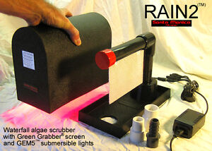 RAIN2 (tm) Algae Scrubber ATS Aquarium Filter Chaeto Reactor Skimmer Canister