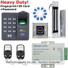 ZKTeco Fingerprint+RFID Card+Password Door Access Control+Magnetic Lock+2Remotes