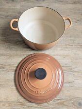 Le Creuset Nut Brown Ombre Cast Iron 24cm XL Casserole Pot dish