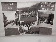 Vecchia foto cartolina d epoca di Casaletto Spartano panorama strada nazionale