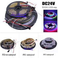 5M WS2811 16703 60led/m 24V LED strip Addressable Digital RGB Dream Full color