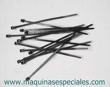 100 bridas brida abrazadera negra de poliamida plastico 100x2,5x1mm Cable ties