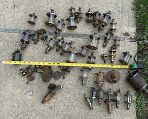 Lot 35 Antique HIT & MISS ENGINE DRIP Brass OILER STEAM PART Essex Lunkenheimer