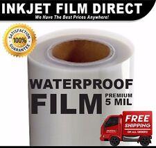 """5 MIL - Waterproof Inkjet Film Transparency 17"""" X 100' 1-Roll"""