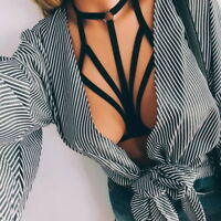 Bustier Hollow Sexy Bandage Bra Push Up Crop Top Cage  Belt Lingerie GIFT