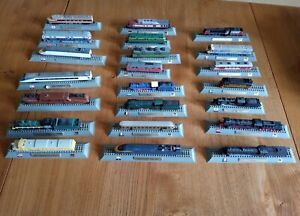 22 X JOB LOT OF DEL PRADO N GUAGE 1/160 SCALE LOCOMOTIVE TRAIN MODELS