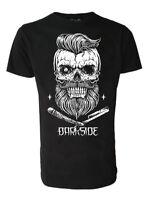 Darkside Beard Barber Razor Skull Black Men's T Shirt Biker Rockabilly S-2xl