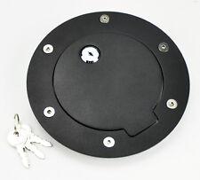 Chevy Silverado GMC Sierra 07-11 Black Billet Gas Fuel Tank Door w/ Lock & Key