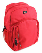 Red Compact Backpack With Rain Cover for Canon EOS 1300D (Rebel T6) DSLR Camera