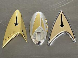 Star Trek Discovery TOS Enterprise Holo-badge Metal Badge Set