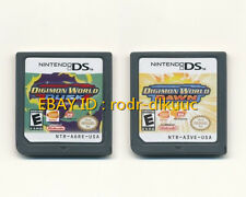 2pcs Nintendo Digimon World Dusk + Dawn Version Game Card for NDS DSI