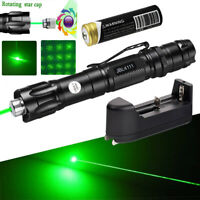 Tactical Green Laser Pointer Pen 532nm 1mW Lazer Beam Light+18650+Smart Charger
