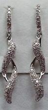 925 Sterling Silver & Zirconia Drop Earrings #2