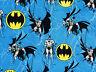 """BATMAN SUPERHERO  DC COMICS 100% COTTON FABRIC ROPE  CAMELOT COTTONS 12"""" REMNANT"""