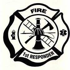 "CAR, TRUCK,WINDOW, QUAD ""FIREFIGHTER""  VINYL DECAL"