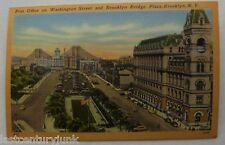 Linen Postcard Post Office On Washington St. & Brooklyn Bridge Plaza,  BKlyn NY
