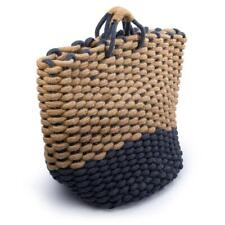 Truu Design Chunky Braided Jute Fabric Basket Beige