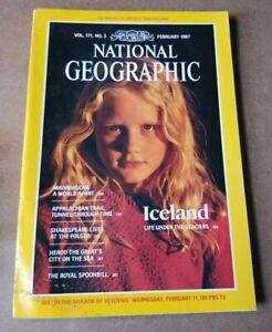 National Geographic Magazine - February 1987 - Iceland - Madagascar